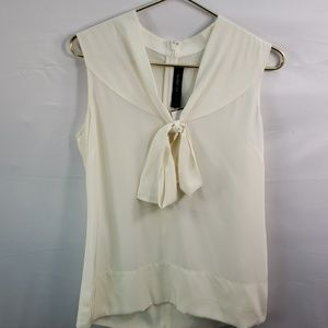ST JOHN SLEEVELESS SILK BLOUSE